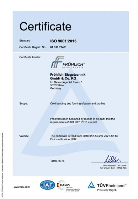 Zertifikat 9001:2015 EN